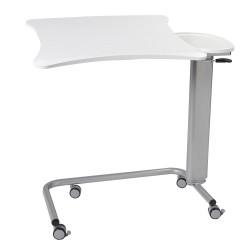 Table à manger au lit à colonne avec plateaux plastifiés blancs (4812-00014)