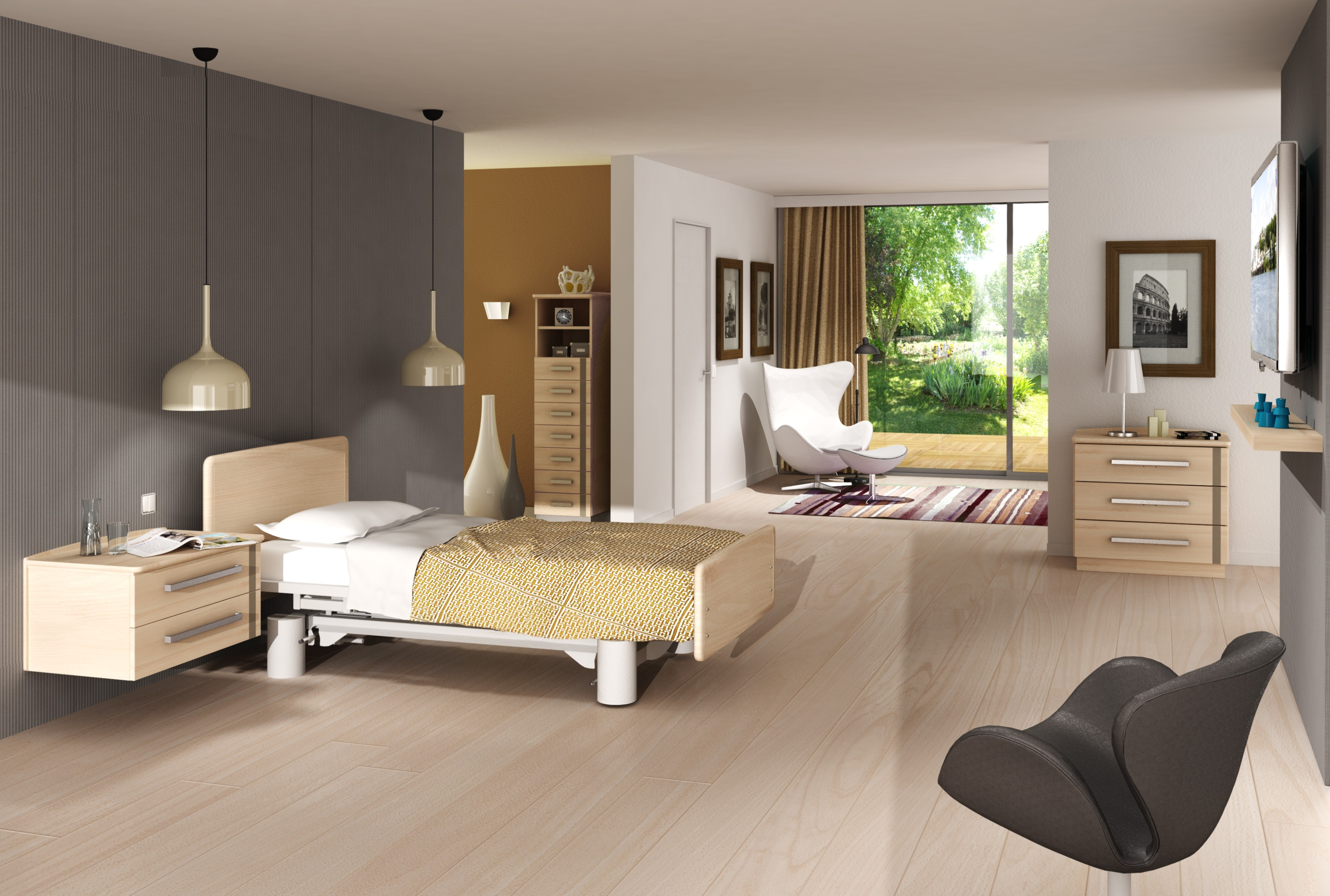 mobiler de chambre m dicalis e collection aubance sotec m dical fabricant. Black Bedroom Furniture Sets. Home Design Ideas