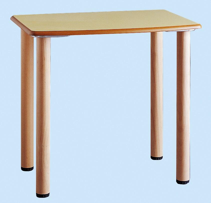 Table 4 pieds bois structure bois tables de chambre for Table 4 pieds