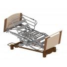 Lit Aubance -position fauteuil- avec demi-barrière métallique (Sotec Médical)